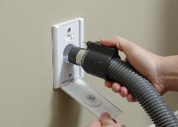 how to clear a central vacuum blockage